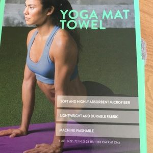 Marina - Yoga Mat Towel Heather Grey NWT